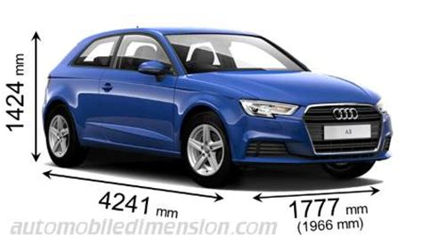 length audi a3 dimensions of audi cars showing length width and height