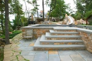 Outdoor steps and patios craftsman patio new york by creative
