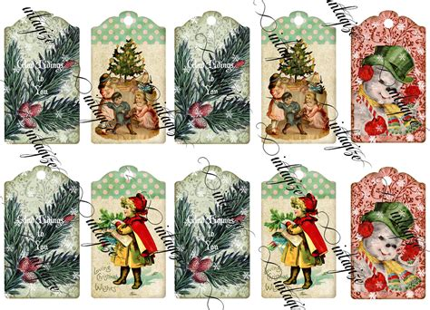 printable victorian tags victorian christmas gift tags original digital collage