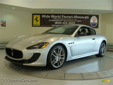 Silver Maserati by 2013 Maserati Granturismo Mc Coupe In Grigio Touring