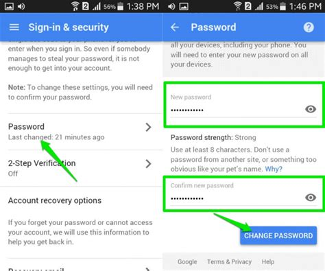 how to change account on android how to reset gmail password on android devices dr fone