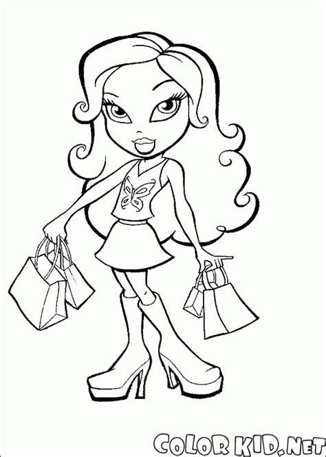 mini barbie coloring pages coloring page bonecas bratz