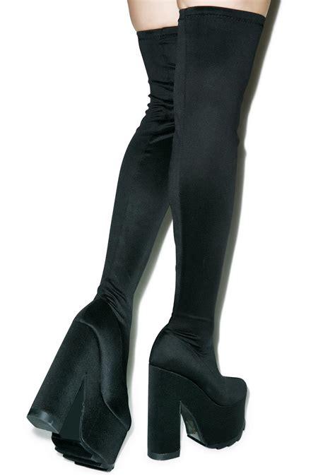 y r u labyrinth thigh high platform boots dolls kill