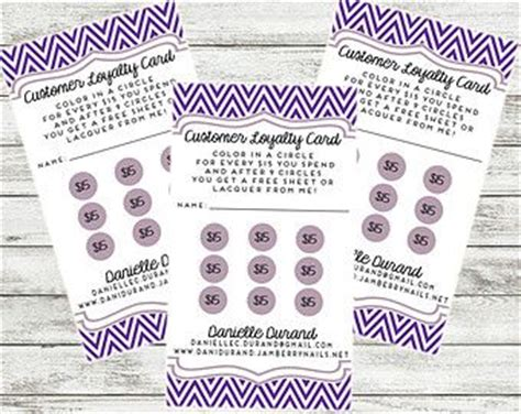 customer rewards card template 145 best images about loyalty cards on