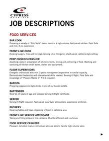 Fast Food Description For Resume by Fast Food Description For Resume Haadyaooverbayresort