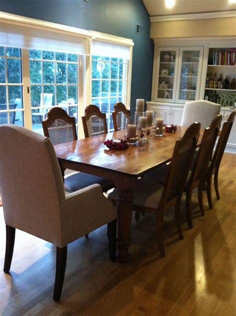 farm dining table graces dining space osborne