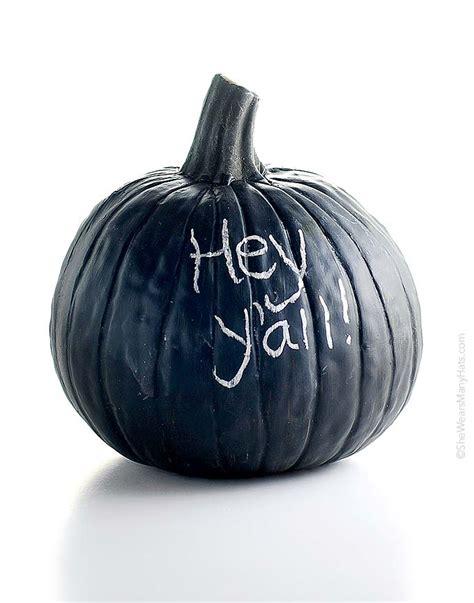 chalkboard paint pumpkin diy chalkboard pumpkin she wears many hats