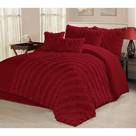 bedding sets clearance queen 7 bed in a bag ruffled clearance bedding comforter set fade resistant wrinkle