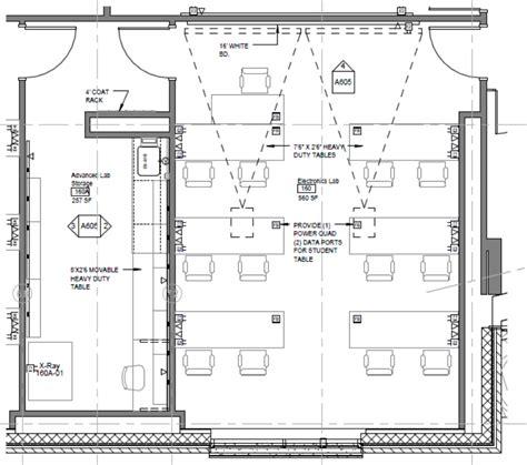 physics lab floor plan electronics lab