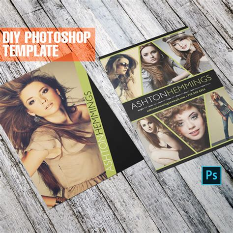 comp card template adobe photoshop diy comp card for models contemporary zed card for