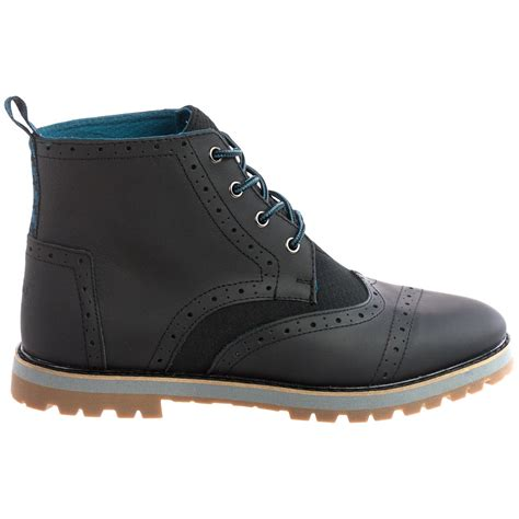 brogue boots for toms brogue wingtip boots for