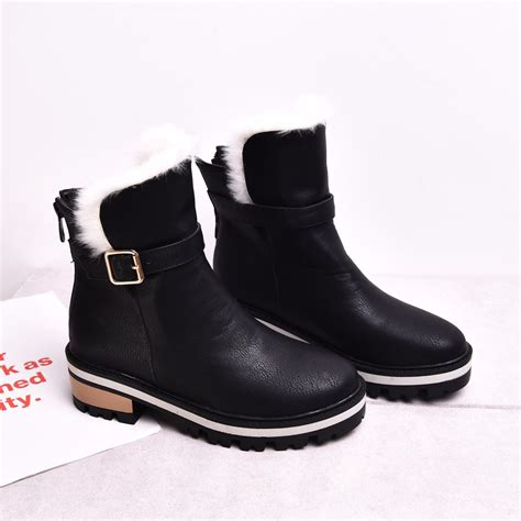 heel boots for winter boots low heel ankle boots leather