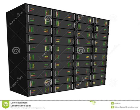 Web Rack by Web Hosting Server Rack On White Stock Image Image 6948101