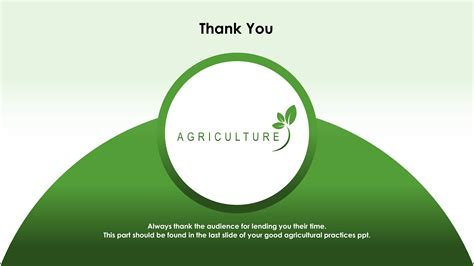 thank you powerpoint template green agriculture premium powerpoint template slidestore