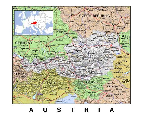 austria germany map maps of austria detailed map of austria in