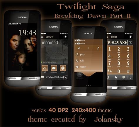 themes nokia 311 themes nokia 311 twilight saga breaking dawn part 2 theme for nokia asha