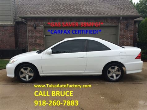 honda civic  coupe white  speed manual carfax certified gas saver mpg super