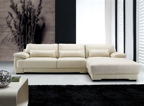 Contemporary Leather Sofa Morano Contemporary Leather Sofa Chaise Sectional 1699
