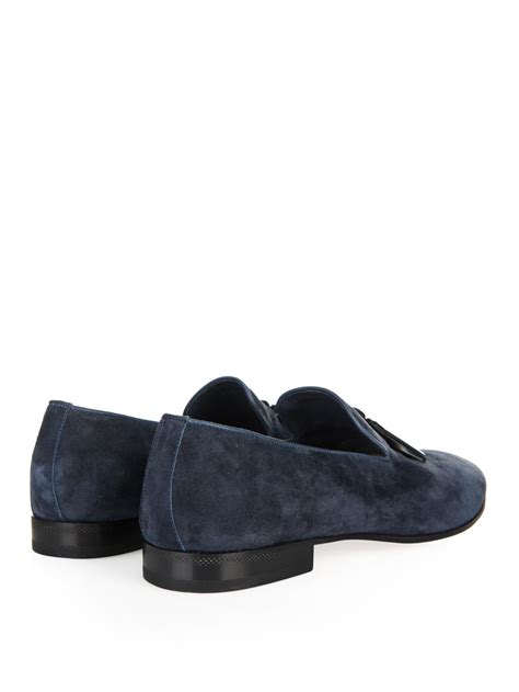 Sergio Rossileather Loafers sergio leather tassel suede loafers in blue for