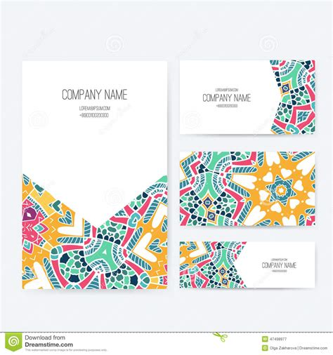 invitation design company names presentation vector kit stock vector image 47498977