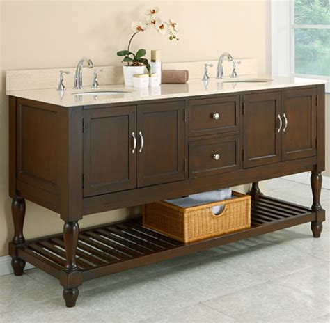 70 Quot Mission Style Double Bathroom Vanity Sink Console With Furniture Style Bathroom Vanities