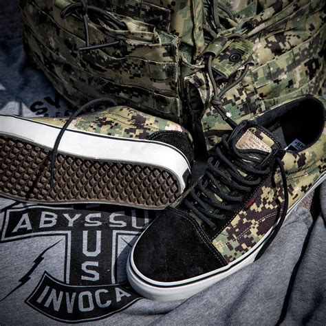defcon x vans syndicate camouflage sneakers mikeshouts