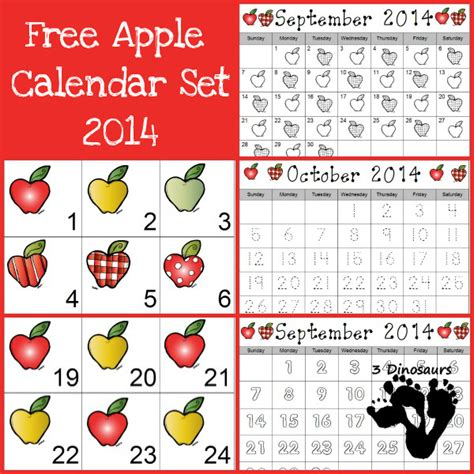 apple calendar template 15 apple activities for play and learning s library
