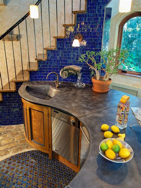 bar top material ideas hgtv s best kitchen countertop pictures color material