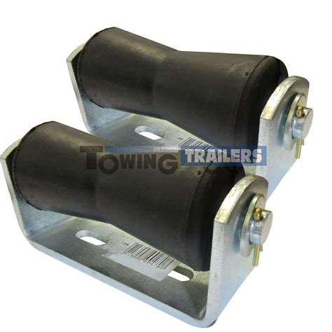 boat trailer rollers ebay 2off boat trailer parts 127mm vee keel roller for 19mm