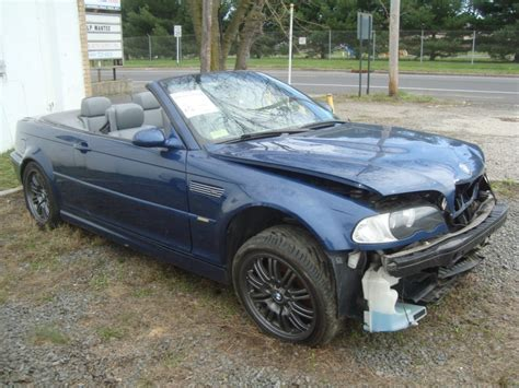 2002 bmw m3 for sale 2002 bmw m3 convertible salvage rebuildable for sale