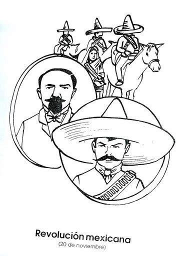 imagenes para colorear sobre la revolucion mexicana la revoluci 243 n mexicana dibujos para colorear ciclo escolar
