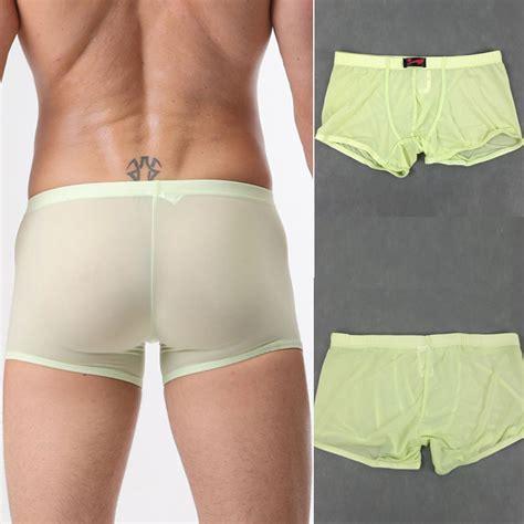 sale mens sheer high quality swimwear boxer trunks briefs home new ebay