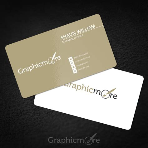 Rounded Corner Gold Business Card Template Mockup Free Psd Card Psd Template Free