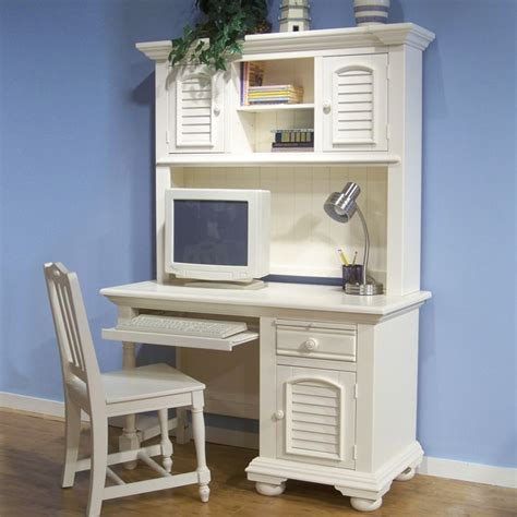 Cottage Traditions Youth White Desk And Hutch Dcg Stores White Youth Desk