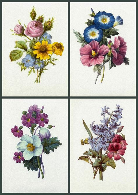 flower collage tattoo vintage flowers bunches paintings search