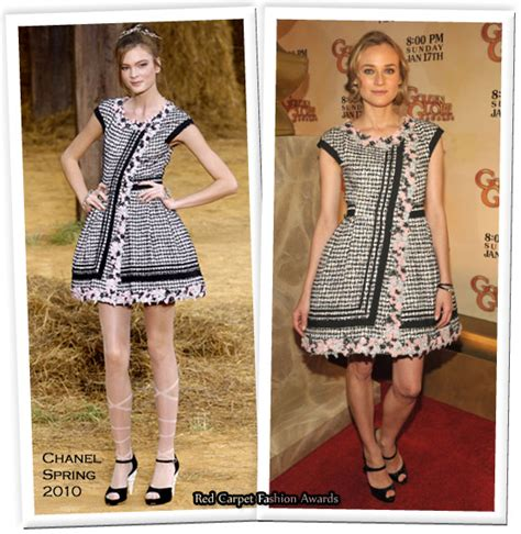 Catwalk To Carpet Diane Kruger In Chanel by Runway To Golden Globe Awards Nominations Announcement