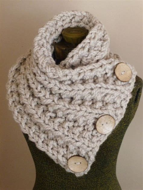 button scarf knitting pattern the lancaster scarf chunky knit scarf in neutral