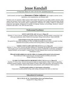Insurance Adjuster Cover Letter by Adjuster Cover Letter Exles