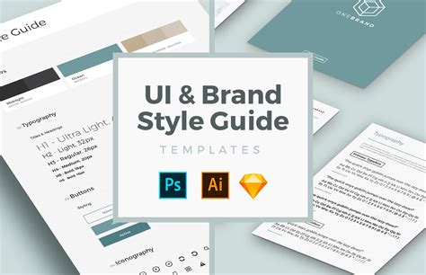 Free Ui Brand Style Guide Templates Medialoot Social Media Brand Guidelines Template