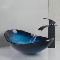 new bathroom sink new waterfall bathroom sink tempered glass basin sink set