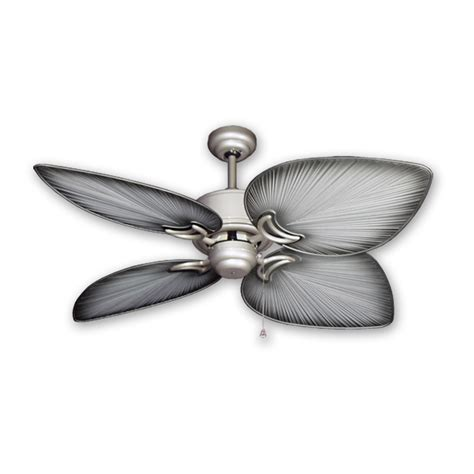brushed nickel outdoor ceiling fan with light outdoor tropical ceiling fan brushed nickel bombay by