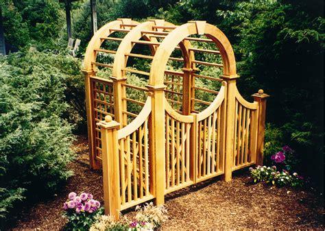 Garden Arbor Gate Wooden Garden Arbors Custom Made Out Of Western Cedar