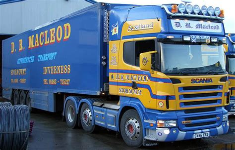 r and d trucks dr macleod scania r series with fridge trailer diecast