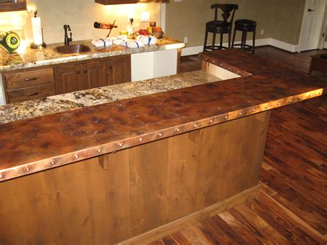 bar top counter heavy metal works copper bar counter top