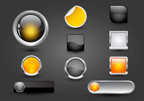 free web free web buttons set 05 vector free vector