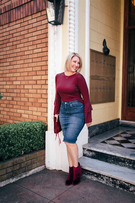the best denim pencil skirt for a pear shape