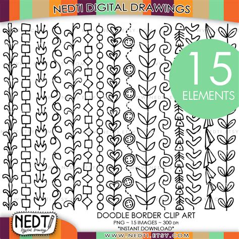 doodle border ideas doodle borders clipart by nedti by nedti on deviantart