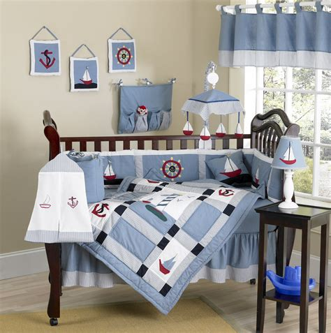 nautical baby themed nursery nautical themed blue baby crib bedding 9pc boy nursery