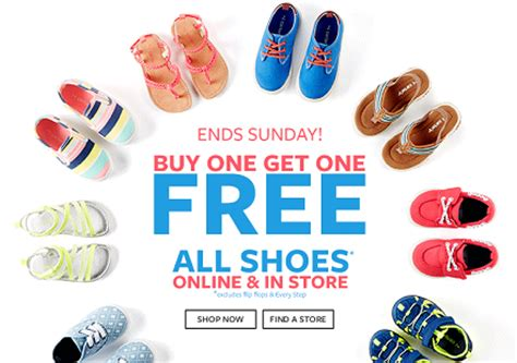 buy one get one free on shoes at s