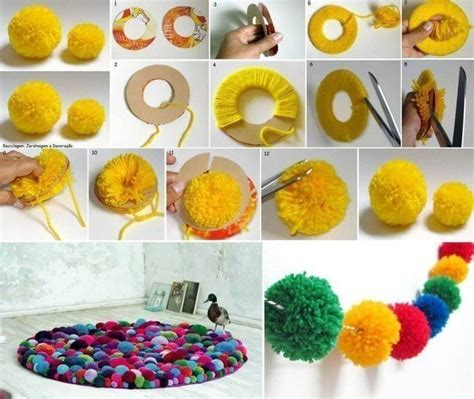 how to decorate home with simple things teppich aus pompons selber machen dekoking